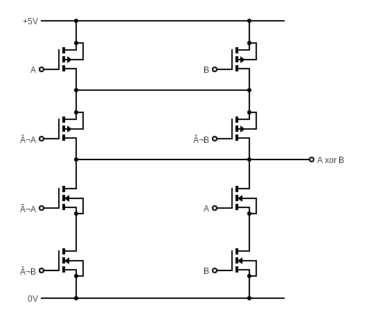Cmos Xor Gate - Circuits