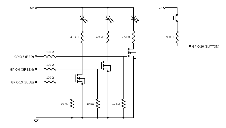 RGB LED MOSFETs
